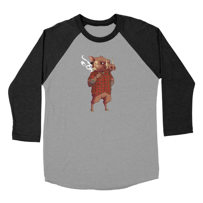 B is for Babirusa Men's Baseball Triblend T-Shirt by mcthrill's Artist Shop