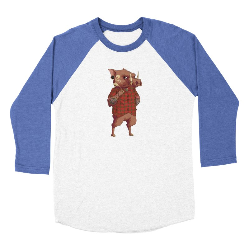 B is for Babirusa Men's Baseball Triblend T-Shirt by mcthrill's Artist Shop
