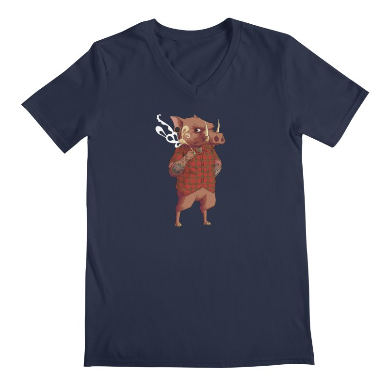 B is for Babirusa Men's Regular V-Neck by mcthrill's Artist Shop