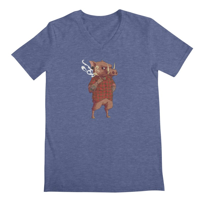 B is for Babirusa Men's V-Neck by mcthrill's Artist Shop