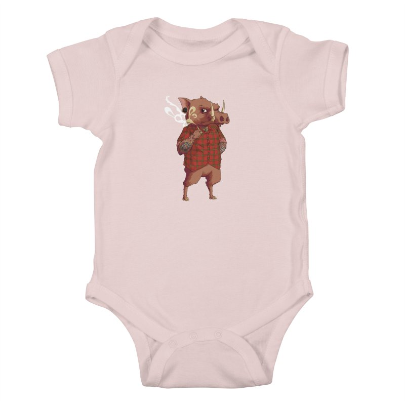 B is for Babirusa Kids Baby Bodysuit by mcthrill's Artist Shop