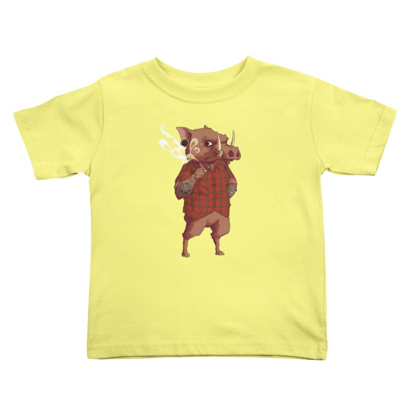 B is for Babirusa Kids Toddler T-Shirt by mcthrill's Artist Shop