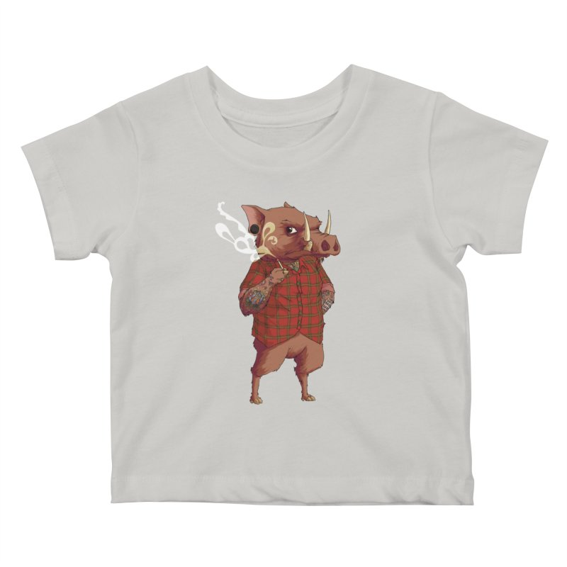 B is for Babirusa Kids Baby T-Shirt by mcthrill's Artist Shop