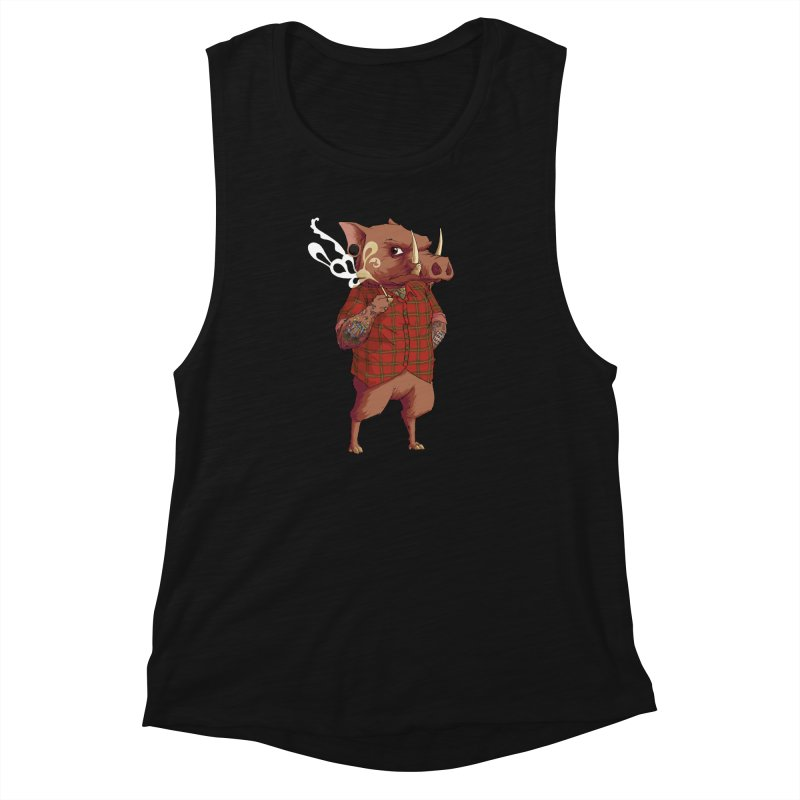B is for Babirusa Women's Tank by mcthrill's Artist Shop