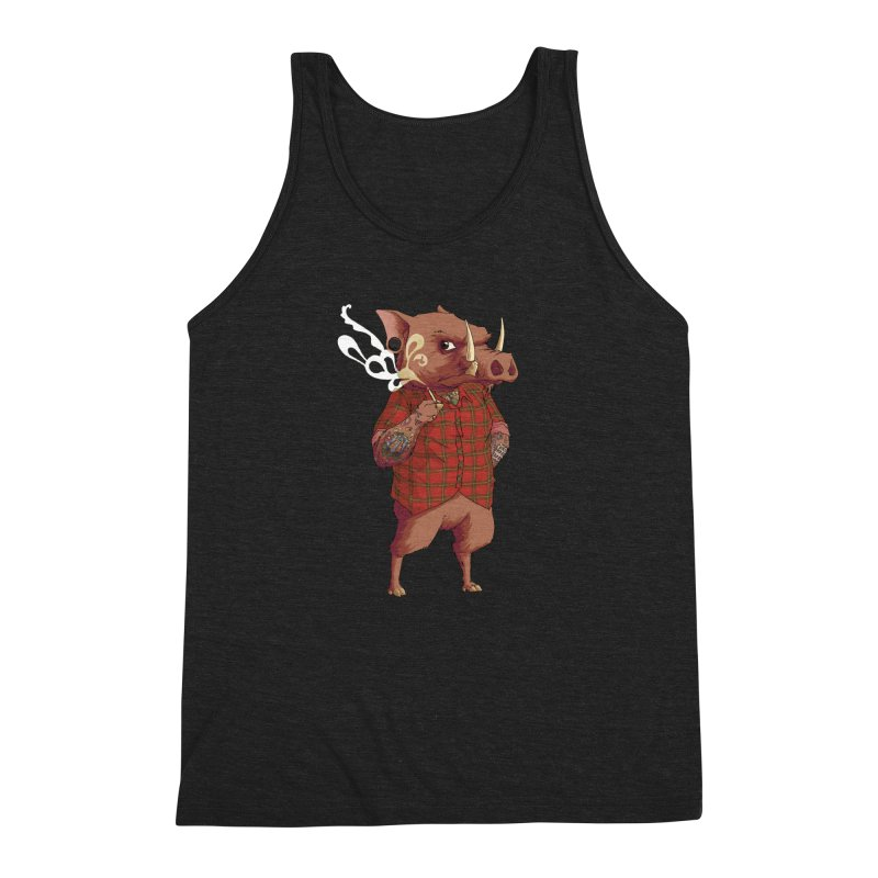 B is for Babirusa Men's Triblend Tank by mcthrill's Artist Shop