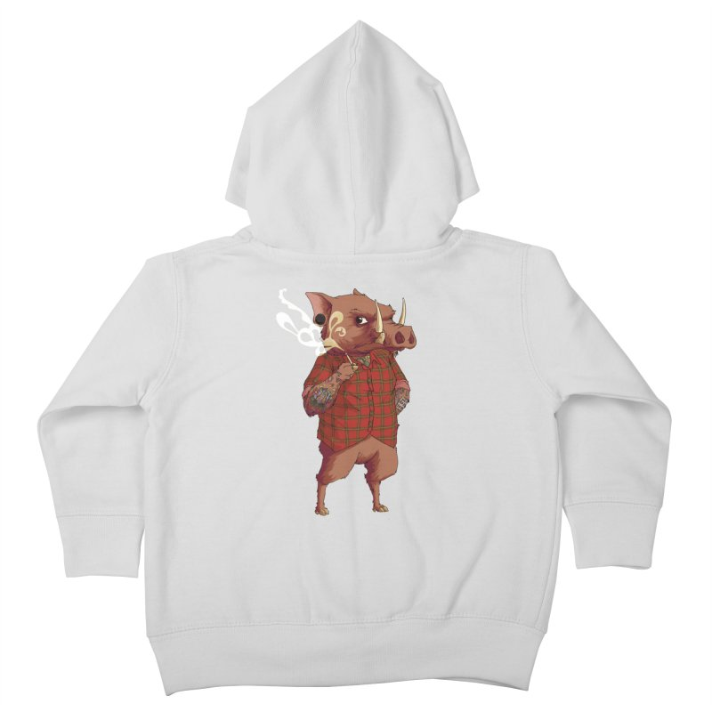 B is for Babirusa Kids Toddler Zip-Up Hoody by mcthrill's Artist Shop