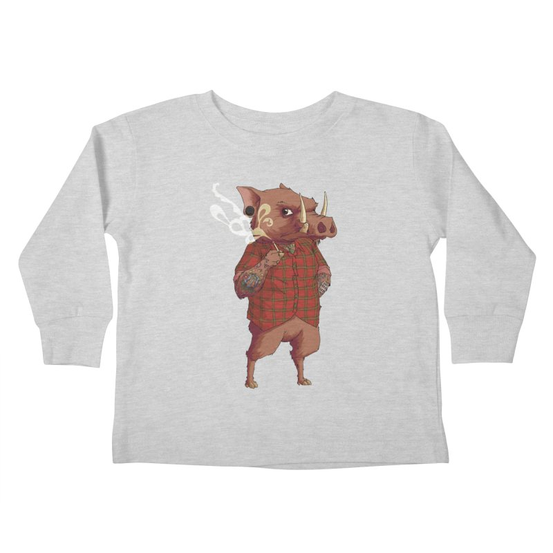 B is for Babirusa Kids Toddler Longsleeve T-Shirt by mcthrill's Artist Shop