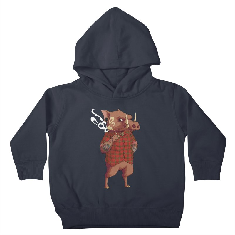 B is for Babirusa Kids Toddler Pullover Hoody by mcthrill's Artist Shop