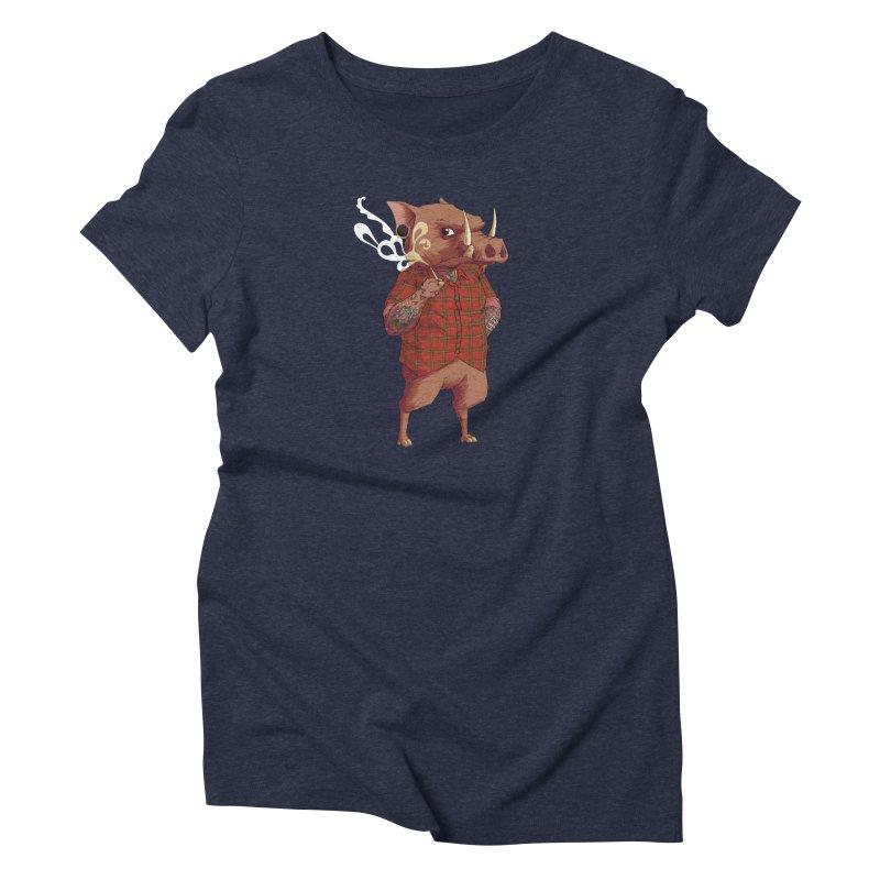 B is for Babirusa Women's Triblend T-shirt by mcthrill's Artist Shop