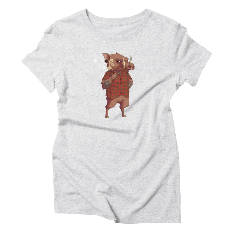 B is for Babirusa Women's Triblend T-Shirt by mcthrill's Artist Shop
