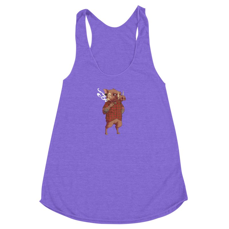 B is for Babirusa Women's Racerback Triblend Tank by mcthrill's Artist Shop