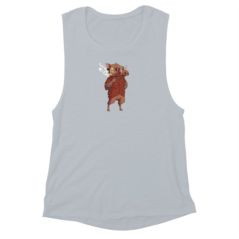 B is for Babirusa Women's Muscle Tank by mcthrill's Artist Shop