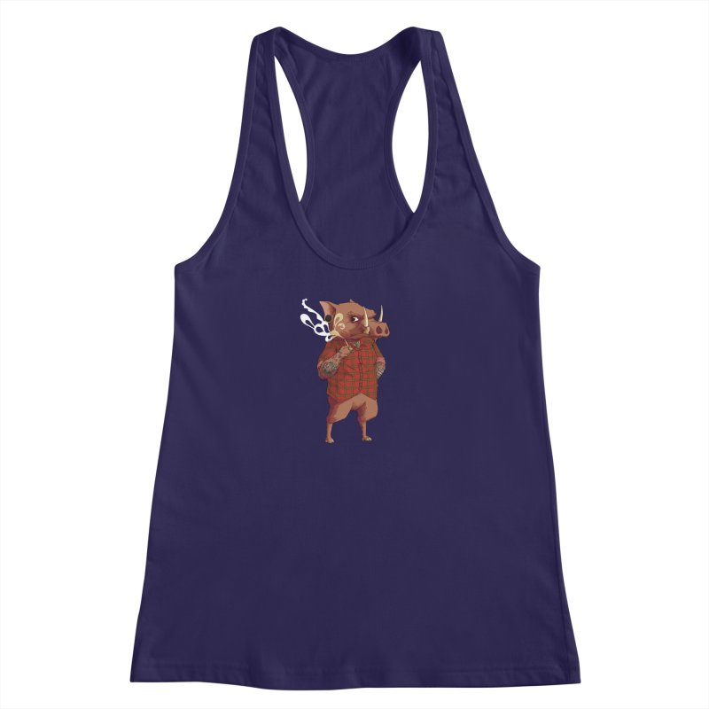 B is for Babirusa Women's Racerback Tank by mcthrill's Artist Shop