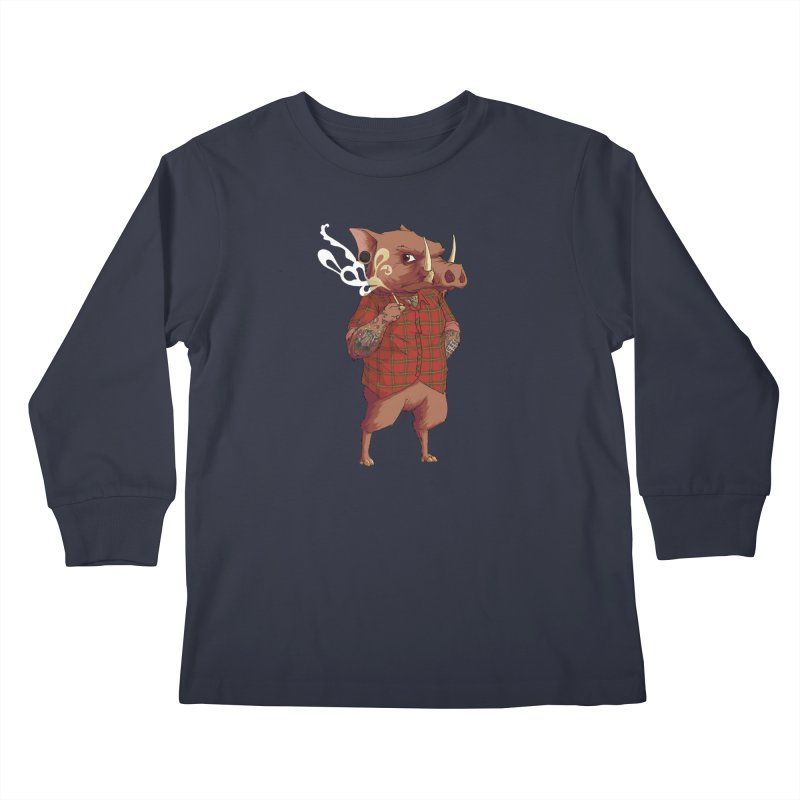 B is for Babirusa Kids Longsleeve T-Shirt by mcthrill's Artist Shop