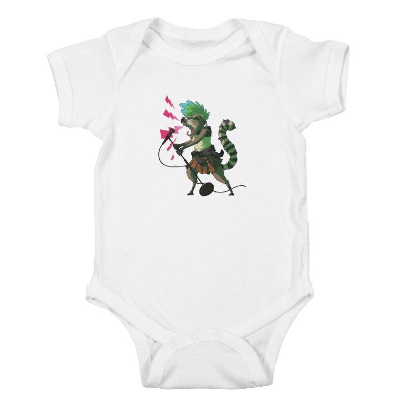 C is for Coatimundi Kids Baby Bodysuit by mcthrill's Artist Shop