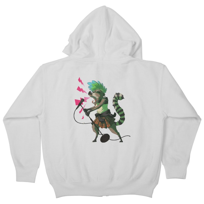 C is for Coatimundi Kids Zip-Up Hoody by mcthrill's Artist Shop