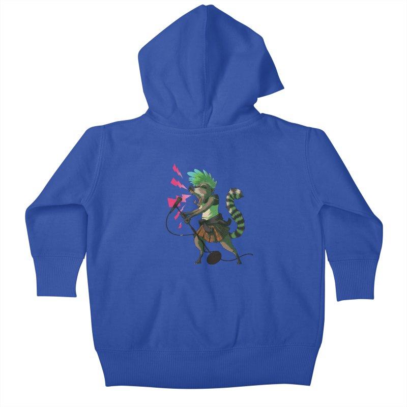 C is for Coatimundi Kids Baby Zip-Up Hoody by mcthrill's Artist Shop