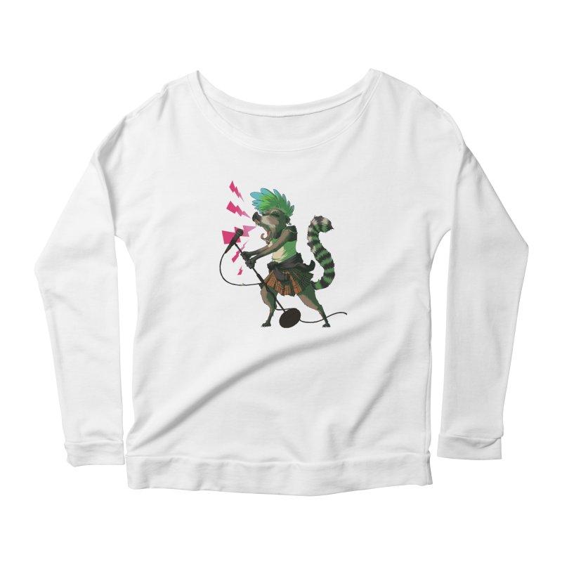 C is for Coatimundi Women's Scoop Neck Longsleeve T-Shirt by mcthrill's Artist Shop