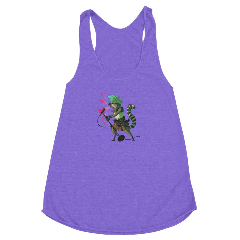 C is for Coatimundi Women's Racerback Triblend Tank by mcthrill's Artist Shop