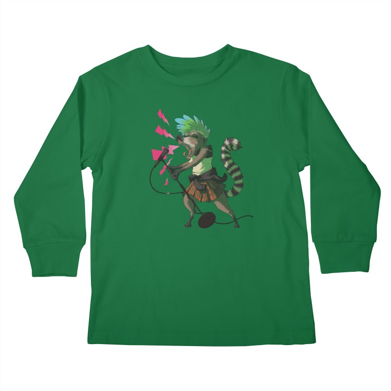 C is for Coatimundi Kids Longsleeve T-Shirt by mcthrill's Artist Shop
