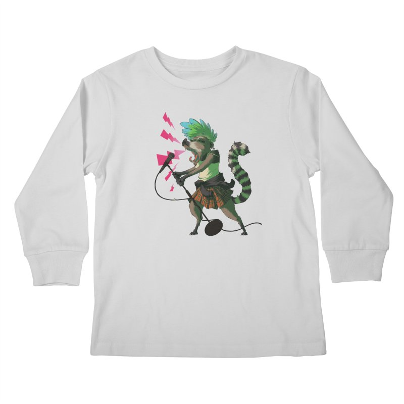 C is for Coatimundi Kids Longsleeve T-Shirt by mcthrill's Artist Shop