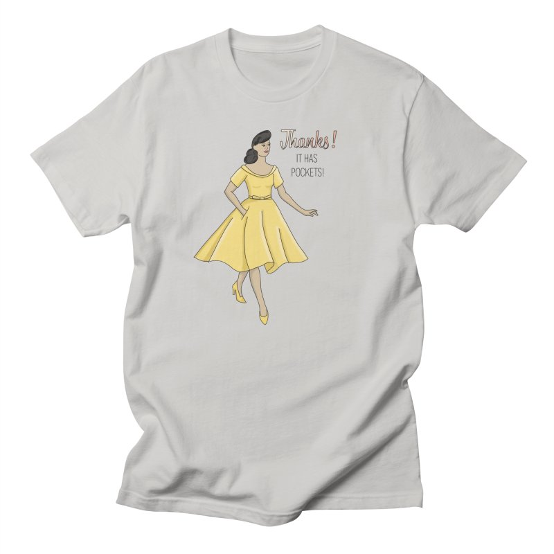 Thanks! It Has Pockets (golden bronze) Men's T-Shirt by MC Woll Designs's Artist Shop