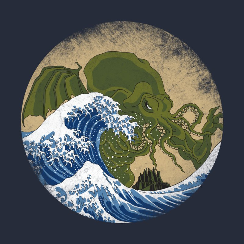 Hokusai Cthulhu  None  by Mdk7's Artist Shop