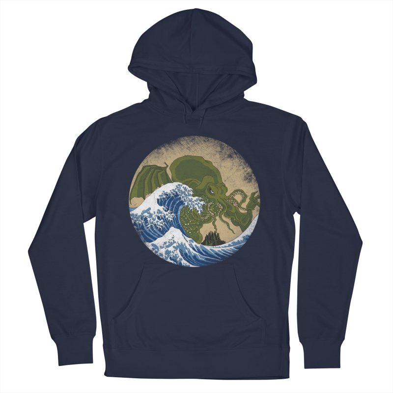 Hokusai Cthulhu  Women's French Terry Pullover Hoody by Mdk7's Artist Shop