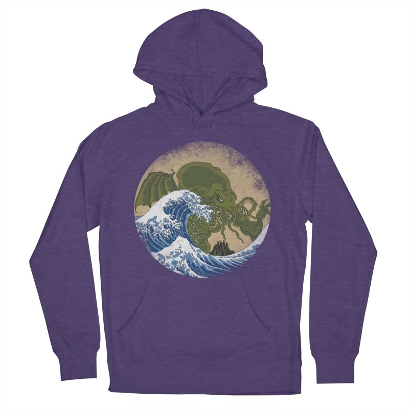 Hokusai Cthulhu  Men's French Terry Pullover Hoody by Mdk7's Artist Shop