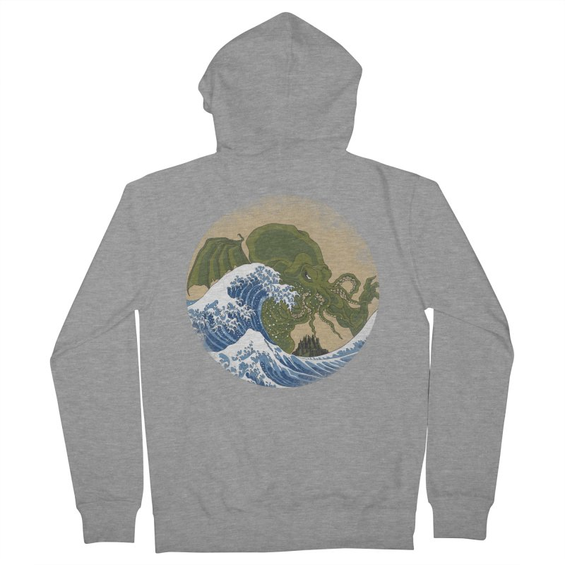 Hokusai Cthulhu  Men's French Terry Zip-Up Hoody by Mdk7's Artist Shop