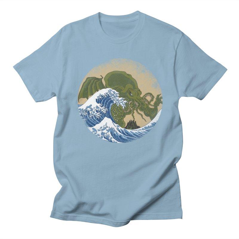 Hokusai Cthulhu  Men's Regular T-Shirt by Mdk7's Artist Shop