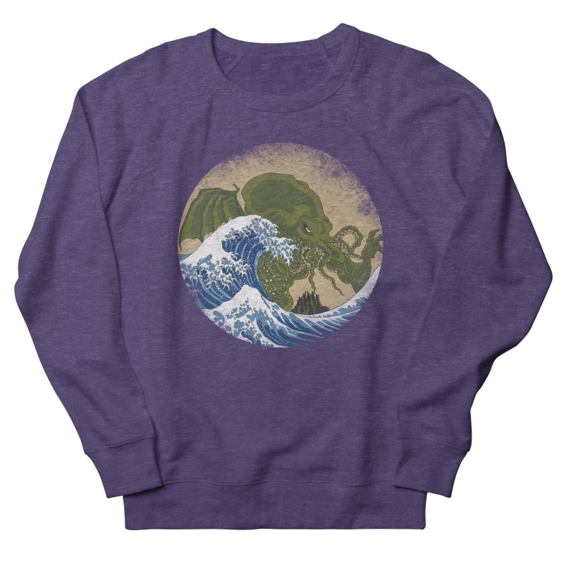 Hokusai Cthulhu  Men's Sweatshirt by Mdk7's Artist Shop