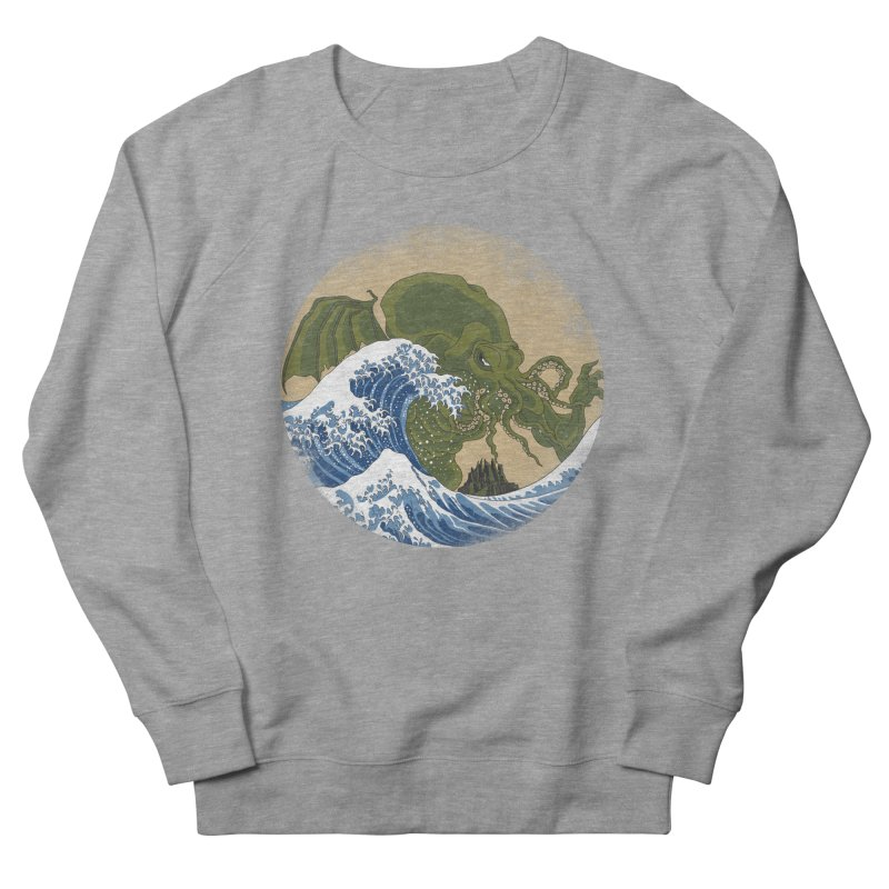 Hokusai Cthulhu  Men's French Terry Sweatshirt by Mdk7's Artist Shop