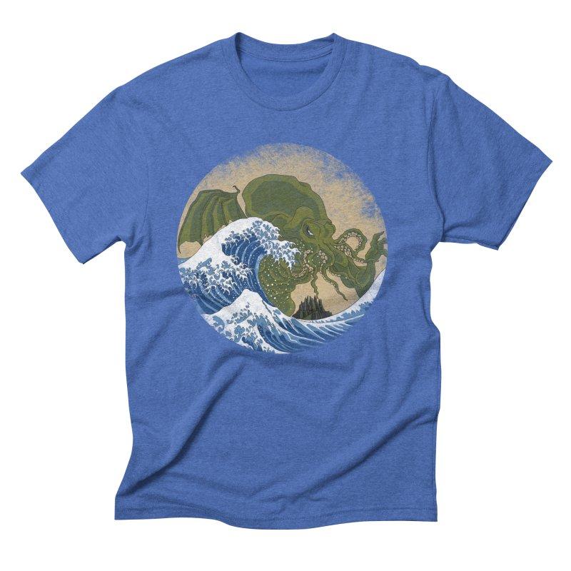 Hokusai Cthulhu  Men's Triblend T-Shirt by Mdk7's Artist Shop
