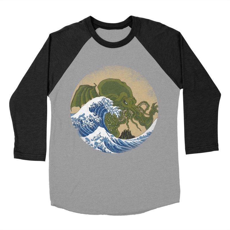 Hokusai Cthulhu  Women's Baseball Triblend T-Shirt by Mdk7's Artist Shop