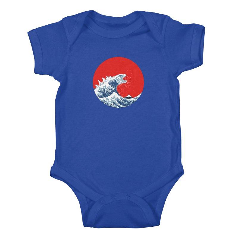 Hokusai Kaiju Kids Baby Bodysuit by Mdk7's Artist Shop