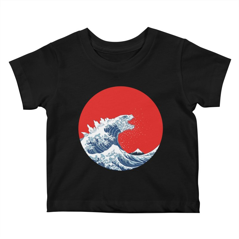 Hokusai Kaiju Kids Baby T-Shirt by Mdk7's Artist Shop