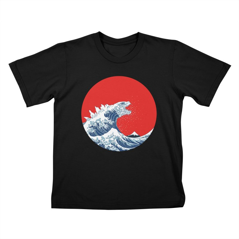 Hokusai Kaiju Kids T-Shirt by Mdk7's Artist Shop