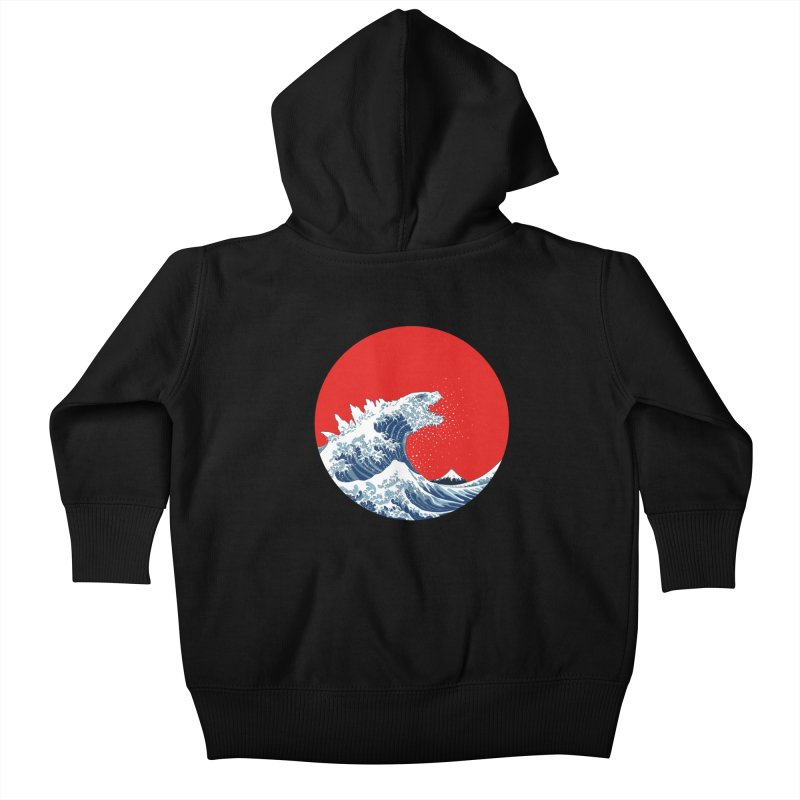 Hokusai Kaiju Kids Baby Zip-Up Hoody by Mdk7's Artist Shop