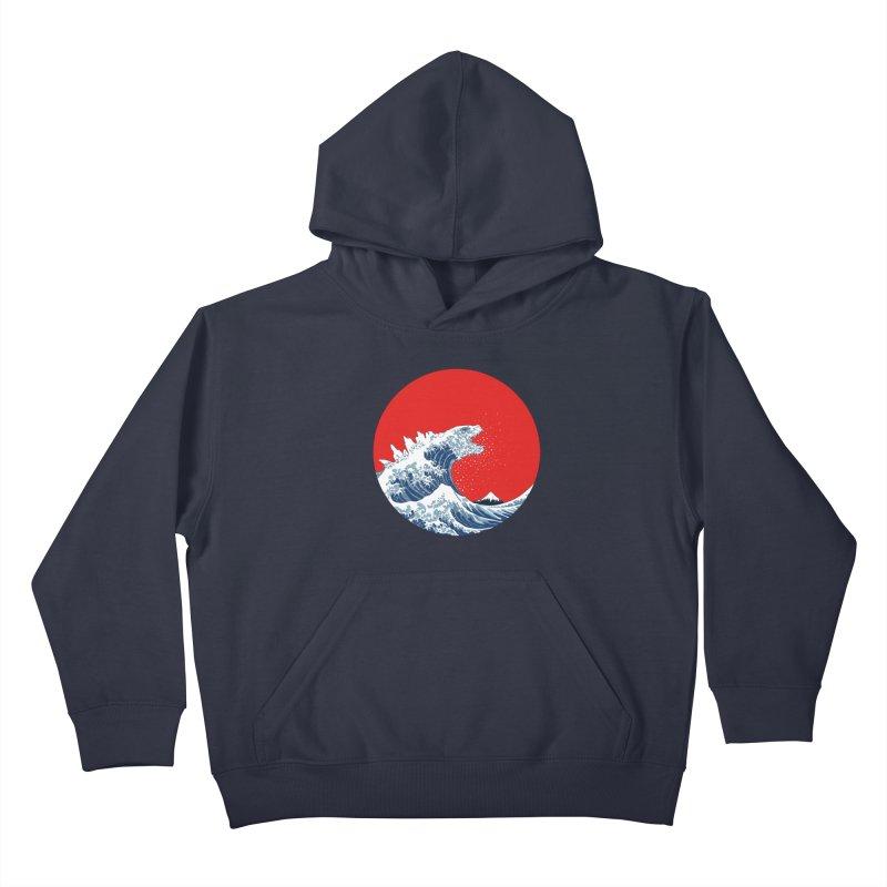 Hokusai Kaiju Kids Pullover Hoody by Mdk7's Artist Shop