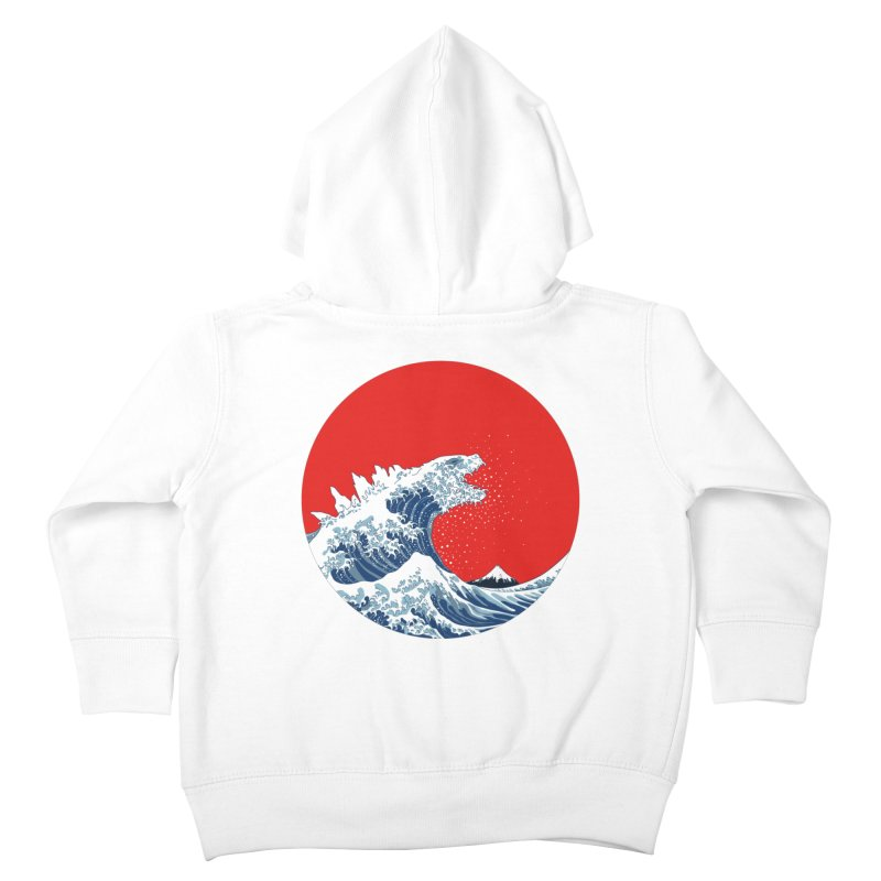 Hokusai Kaiju Kids Toddler Zip-Up Hoody by Mdk7's Artist Shop