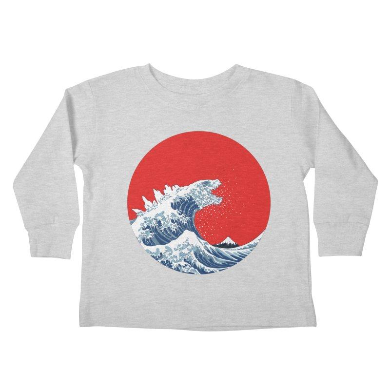Hokusai Kaiju Kids Toddler Longsleeve T-Shirt by Mdk7's Artist Shop