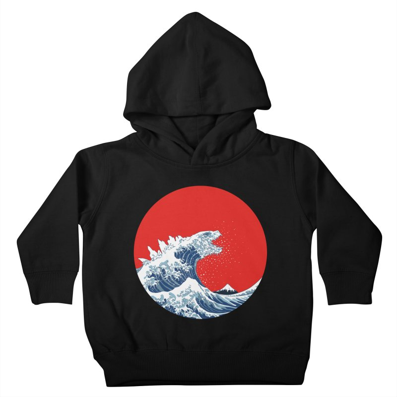 Hokusai Kaiju Kids Toddler Pullover Hoody by Mdk7's Artist Shop