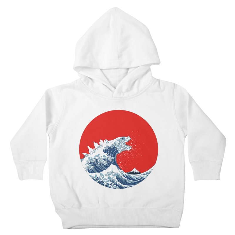 Hokusai Kaiju Kids Toddler Pullover Hoody by Mdk7's Artist Shop