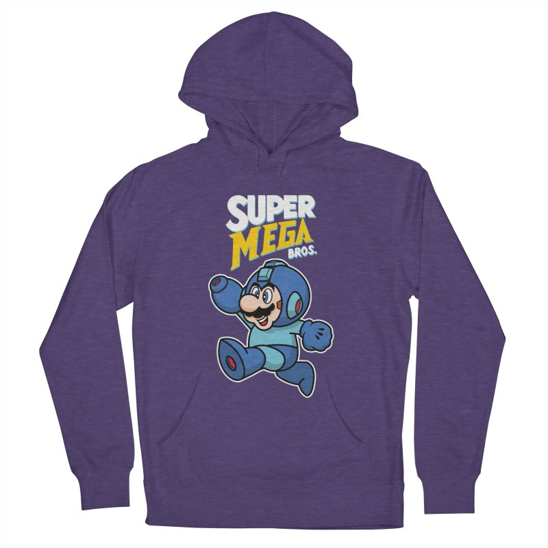 Super Mega Bros  Women's French Terry Pullover Hoody by Mdk7's Artist Shop