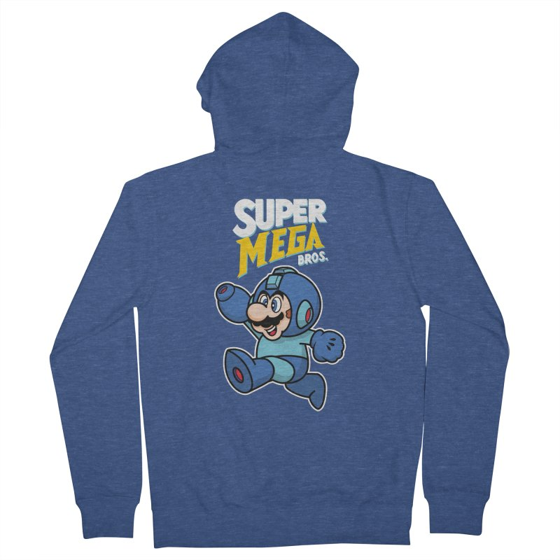 Super Mega Bros  Women's French Terry Zip-Up Hoody by Mdk7's Artist Shop