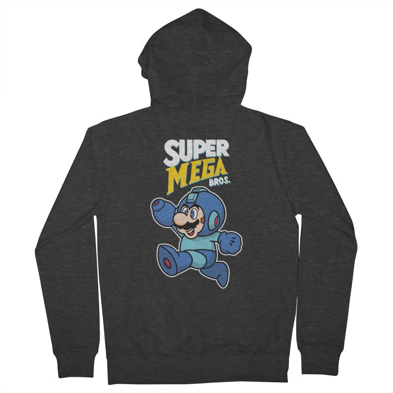 Super Mega Bros  Men's French Terry Zip-Up Hoody by Mdk7's Artist Shop