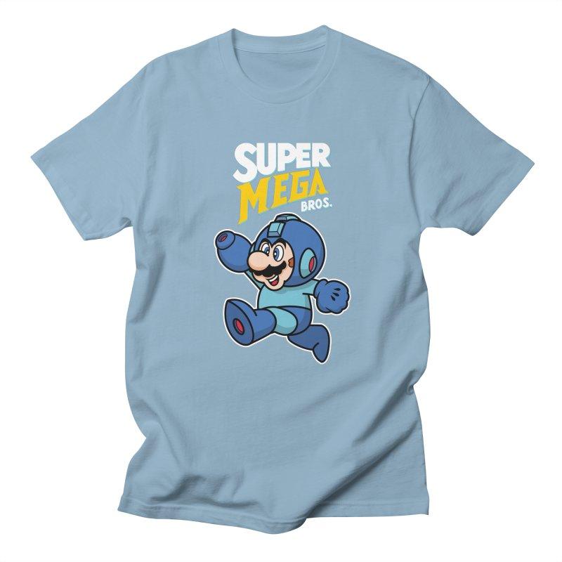 Super Mega Bros  Men's T-Shirt by Mdk7's Artist Shop