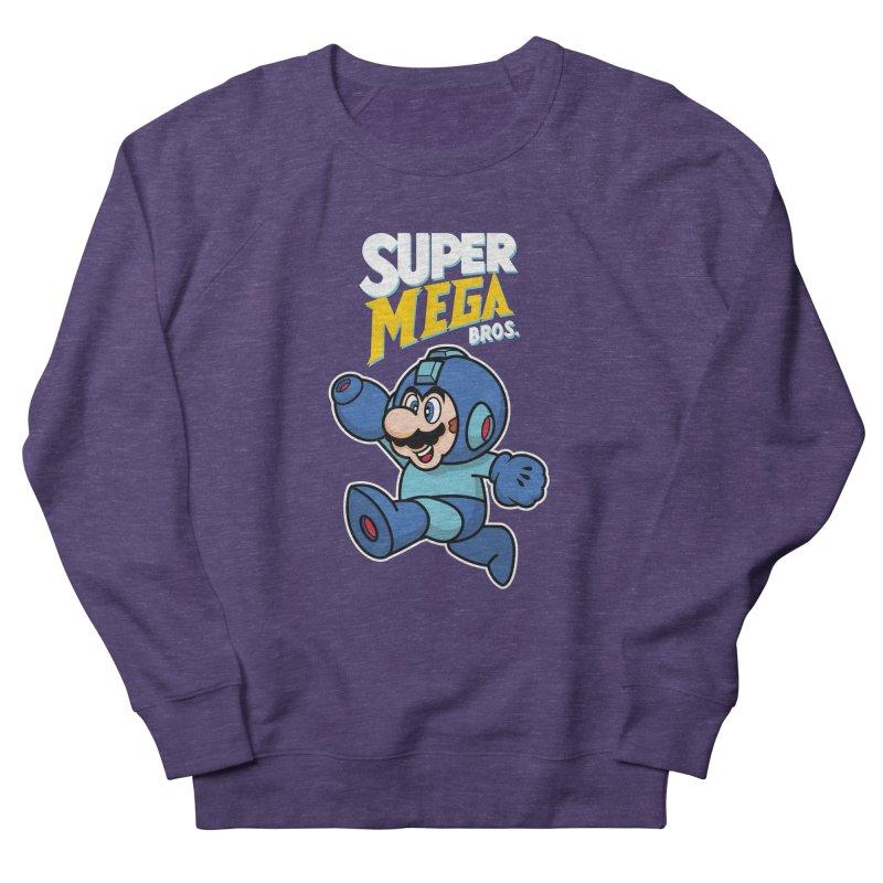 Super Mega Bros  Men's French Terry Sweatshirt by Mdk7's Artist Shop