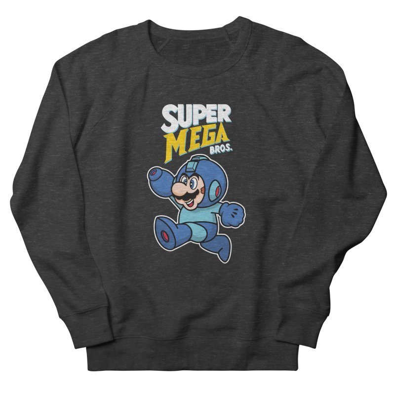 Super Mega Bros  Men's French Terry Sweatshirt by Mdk7's Artist Shop